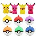Оптовая pen drive mini Pokemon Пикачу подарок флэш-накопитель 8 ГБ 16 ГБ 32 ГБ 64 ГБ брелок мультфильм Pokeball флэш-накопитель usb pendrive