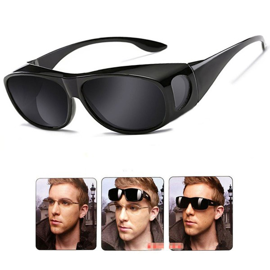 NEWBOLER Lentes Polarizadas Homens Mulheres Óculos De Sol De Pesca Capa Para Caber Sobre Óculos De Sol Óculos de Miopia Óculos óculos Óculos de Sol