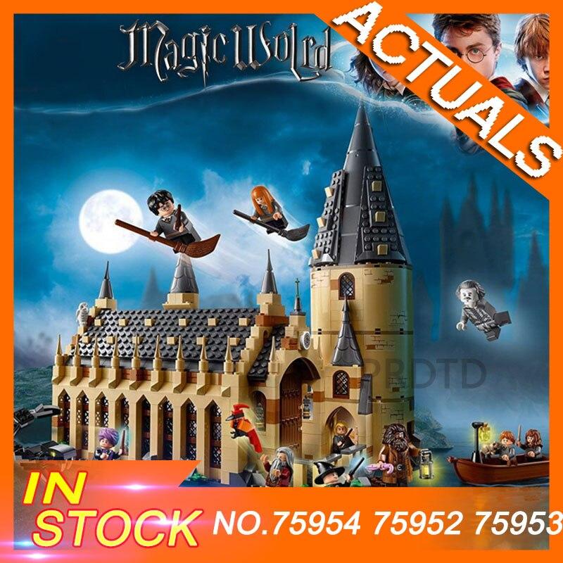 2018 Legoinglys Film di Harry Potter Hogwarts 75954 75952 75953 Grande Sala Castello Blocchi di Costruzione di Modello 11007 Giocattoli Educativi