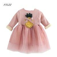 1-3years Bebek Kız Örme Elbise Kış Sonbahar Çocuklar Tutu Elbiseler Uzun Kollu Bebek Kız Toddler Kalınlaşma Giyim Örgü Örgü