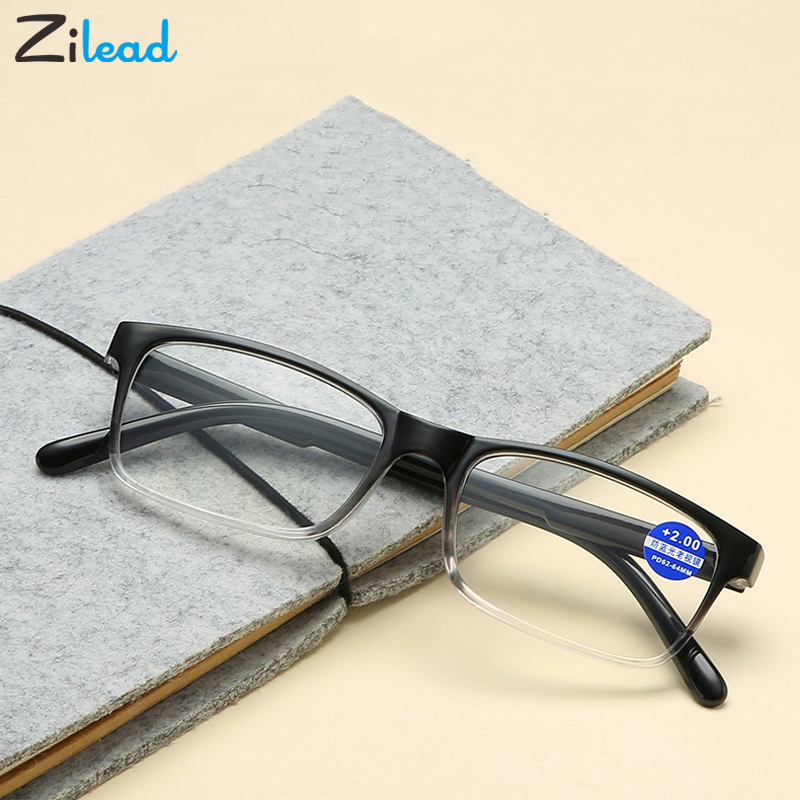 Zilead Fashion Men Women Retro Small Frame Presbyopic Eyeglasses Anti Fatigue For Parents Unbreakable Classical Reading Glasses