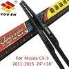 YOUEN 24 18 Wiper Blade For Mazda CX 5 CX5 2011 2012 2013 2014 2015 Windscreen