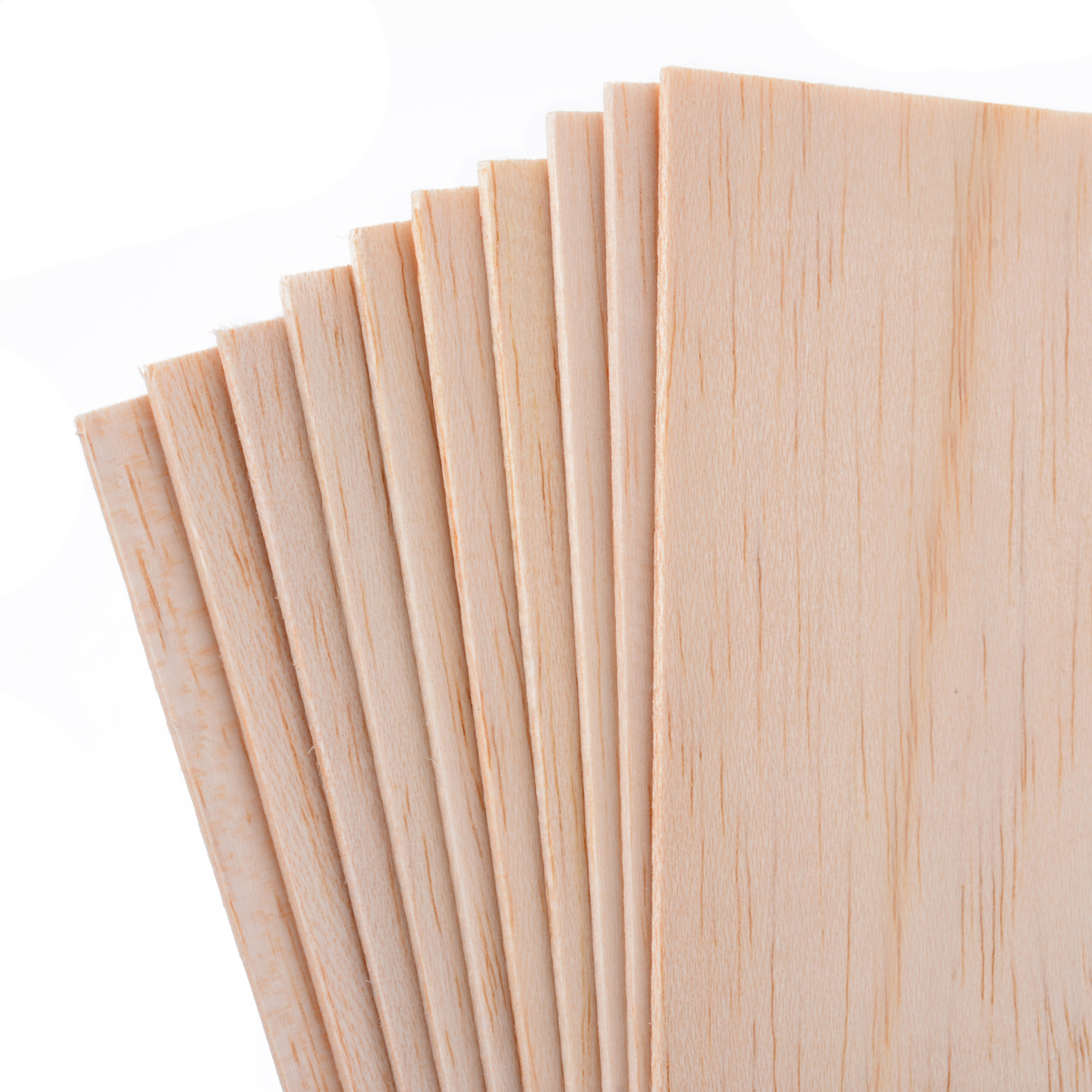 10pcs/Set 200*100*1.5mm Wooden Plate Balsa Wood Sheets For DIY House Ship Aircraft Boat Model Toys Craft