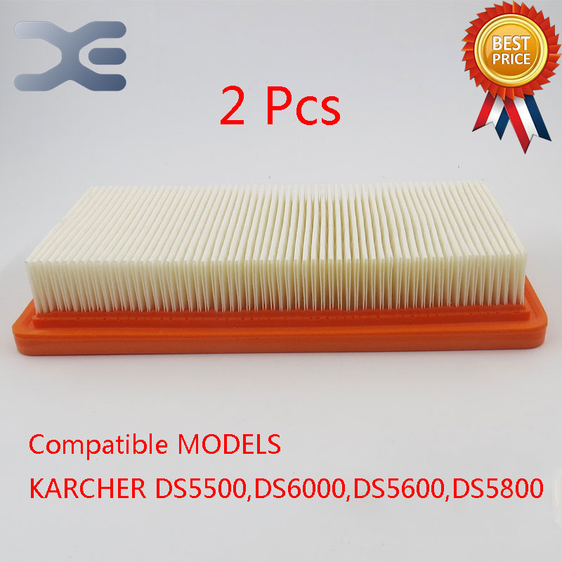 2Per Lot Robot Vacuum Cleaner Replacement Parts Hepa Filter Filters For Karcher DS5500 6000 5600 5800 Vacuum Cleaner Part filter vacuum cleaner eup hepa vh806 filter replacement parts