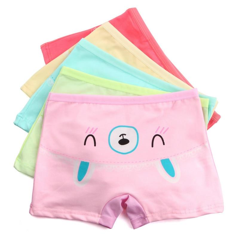 5 Teile/los Baby Mädchen Cartoon Boxer Kinder Unterwäsche Mädchen Unterwäsche Boxer Hosen Boxer 6-12 Jahre Alt
