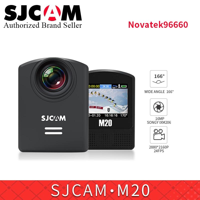 SJCAM M20 Wifi Gyro Sport Action Camera 2K 16MP waterproof sports video camera Car Dash Camcorder remote control watch /monopod soocoo c30 sports action camera wifi 4k gyro 2 0 lcd ntk96660 30m waterproof adjustable viewing angles