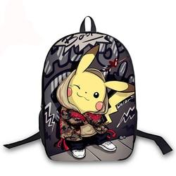 PIKACHU 16 Cal torby szkolne Plecak Szkolny nastolatek Plecak dziewczyny chłopcy Plecak plecaki studenckie Mochilas Escolares Sac Dos 2
