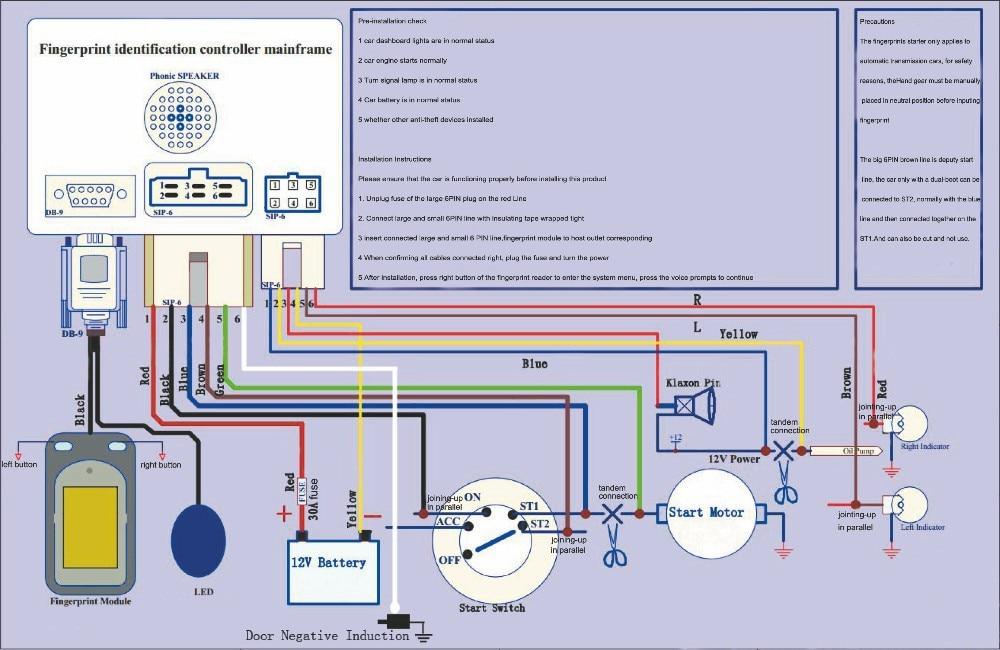 Biometric fingerprint car starter,biometric car security system