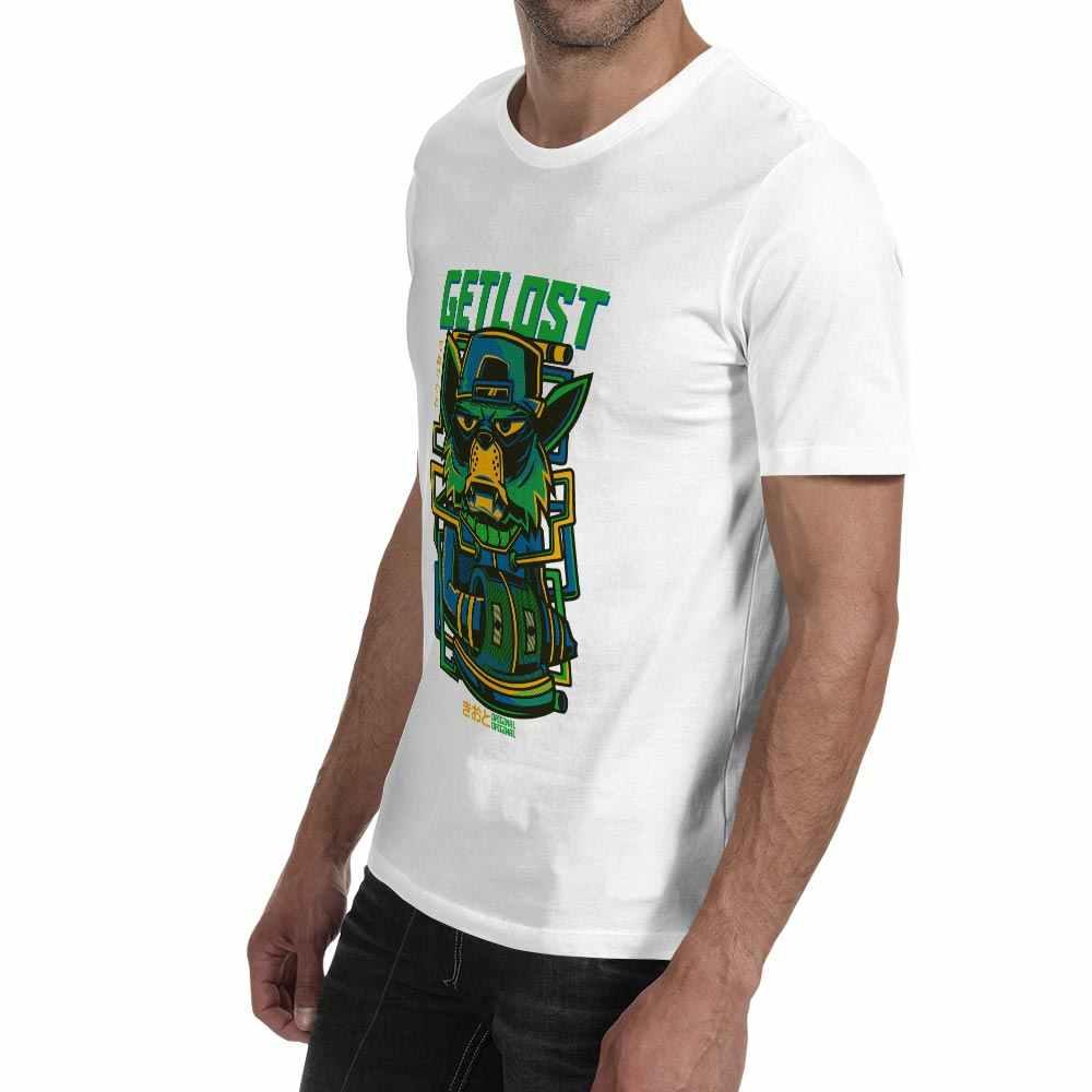 Design criativo Ficar Perdido Gato T-shirt de Skate Casual Anime Tigre de Manga Curta Camiseta de Rock Pop Hip Hop Dos Homens Das Mulheres top Tee
