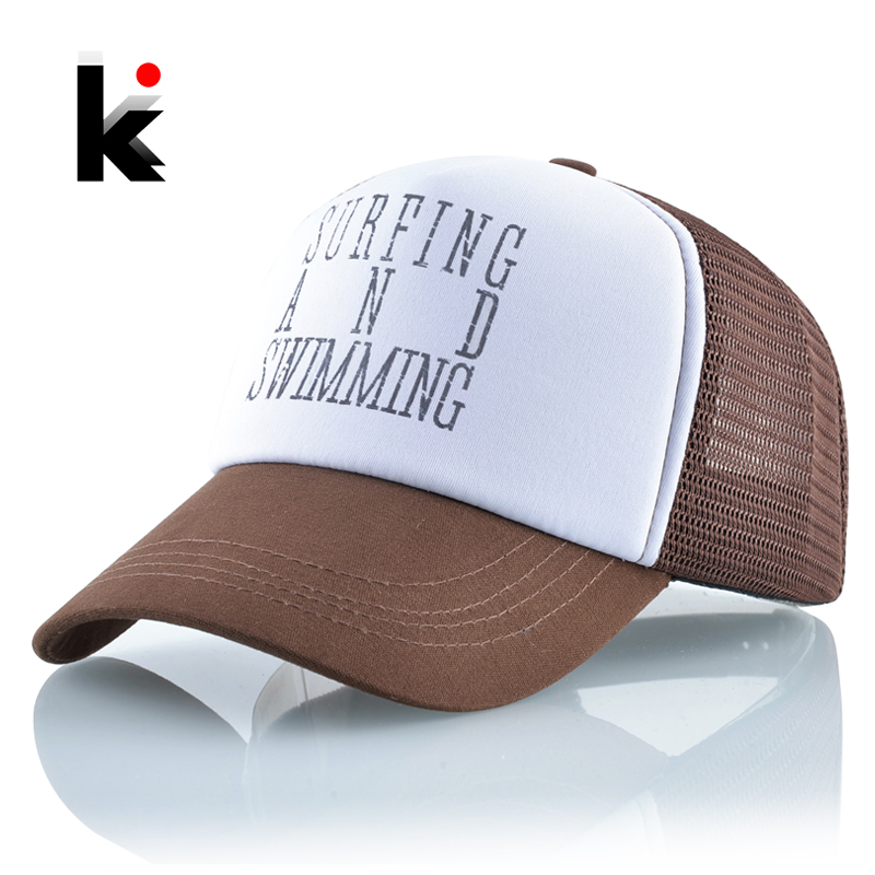 Summer Breathable Mesh Hats Women Letters Baseball Cap Men Snapback Streetwear Casquette Homme Hip Hop Unisex Adjustable Bones