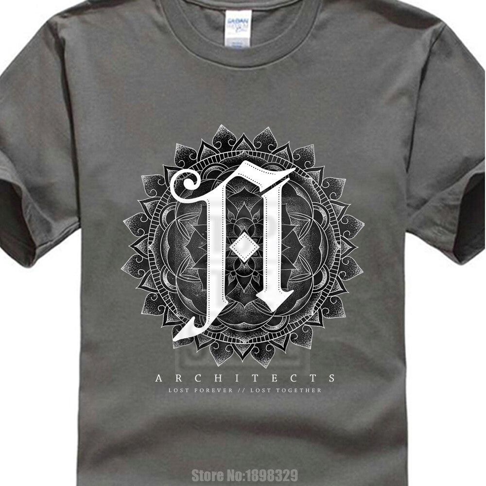 Official Architects Mandala T-shirt Metal Rock Music Shark Hunting Bone Coffin