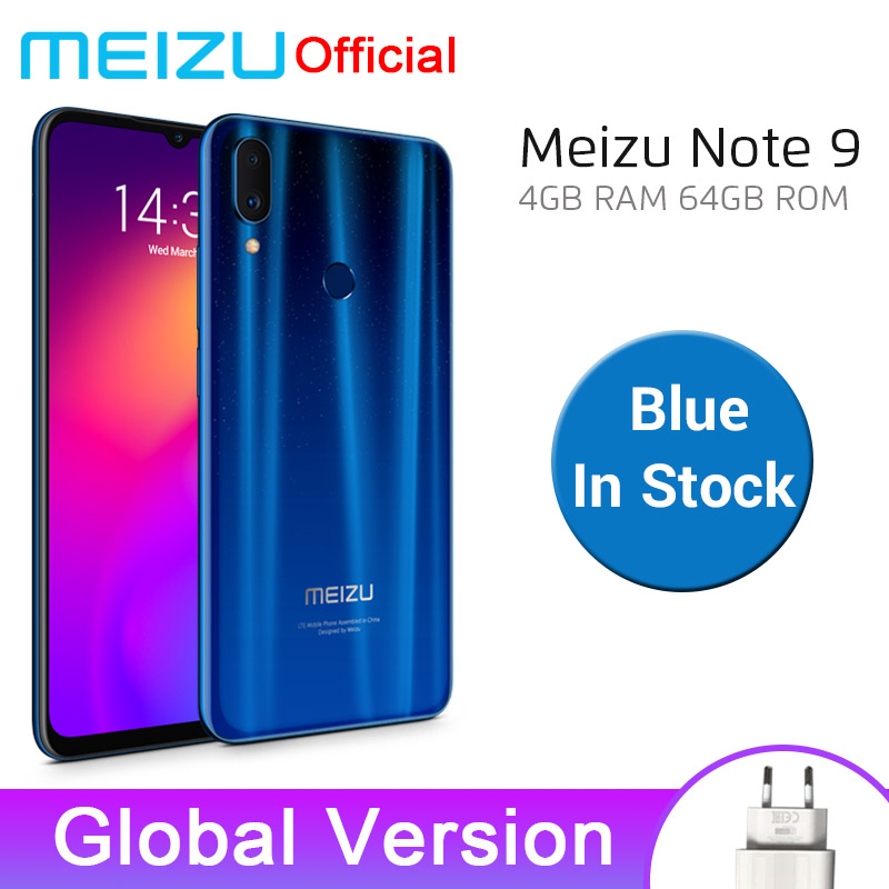 Meizu Note 9 4GB 64GB Mobile Phone Note9 Snapdragon 675 Octa Core Cellphone 48MP Rear Camera Smartphone Fingerprint