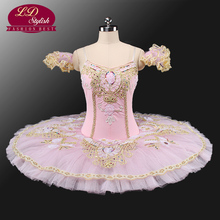 Adult Pink Professional Tutu Ballet Tutus For Performance Sleeping Beauty Costumes Girls Stage Wear Apperal LD0001