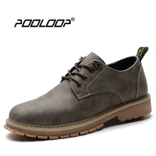 POOLOOP 2017 Men Black Oxford Shoes New Autumn Dress Shoes Genuine Leather Italian Designer Shoes Casual Walking Flat Shoes Male