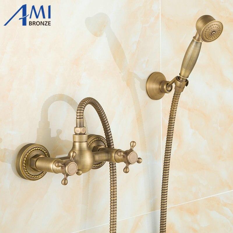Здесь продается  Euro design antique bronze smart shower kit bathroom bathtub faucet shower hand shower head  Строительство и Недвижимость