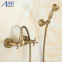 Euro projekt antique bronze inteligentny zestaw łazienka wanna kran prysznic prysznic ręczny prysznic głowy