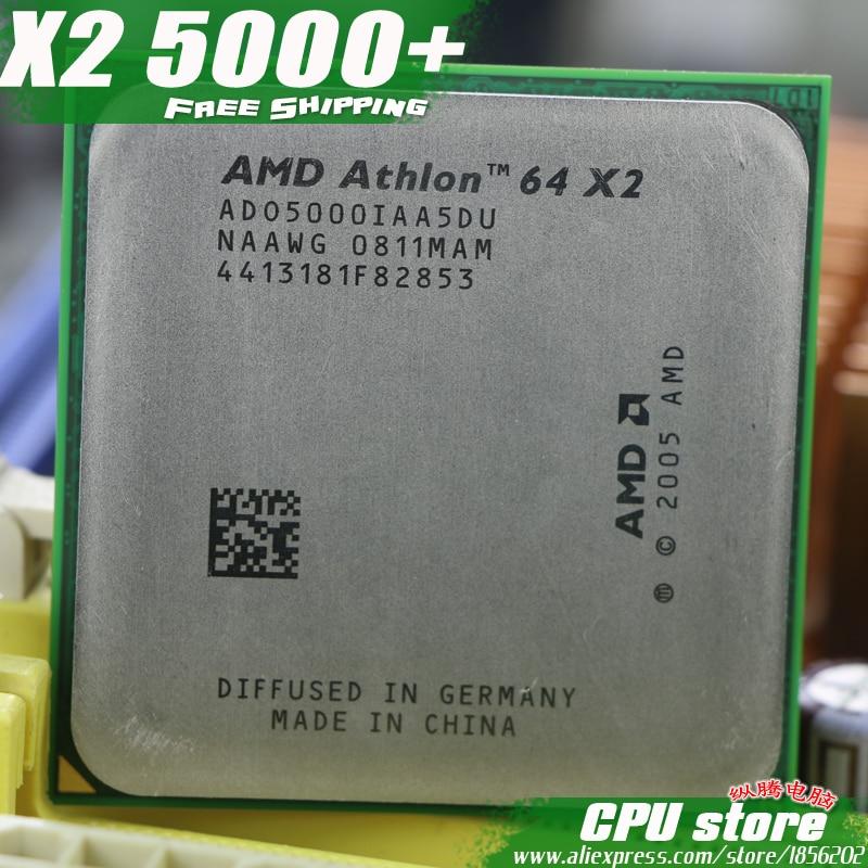 AMD Athlon 64x2 5000 + Процессор процессор (2.6 ГГц/1 м/1000 ГГц) socket AM2 (работа 100% бесплатная доставка) 940 pin, продать X2 5200 + 4800 +