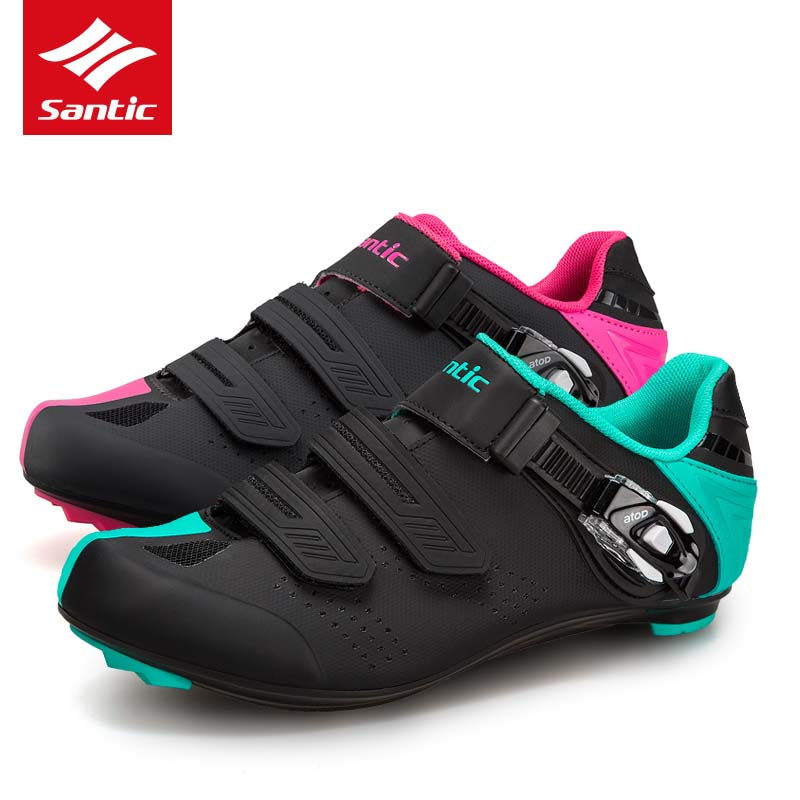 все цены на Santic Men Women Cycling Shoes Road 2018 Bicycle Shoes Breathable Pro Bike Road Shoes Self-Locking Sneakers Sapatilha Ciclismo онлайн