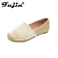 2018 New Style Spring Summer Winter Handmade Women Velvet Shoes Party And Wedding Women Loafers Rubber