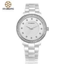 Neue Keramik Uhren Frauen Uhr Kleid Armbanduhr Dame Quarz-uhr Wasserdicht Diamant Gold Uhren BL0962 Luxus Marke STARKING
