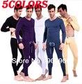 5 CORES Mens Modal Long Johns Conjunto de Roupa Interior Térmica Thermo Top Calças Camisa de Manga Longa frete grátis