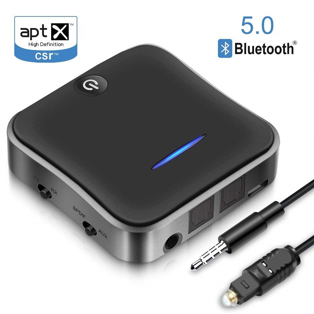 Unterhaltungselektronik 2 In 1 Bluetooth 5,0 Empfänger/sender Digital Optical Toslink Und 3,5mm Wireless-audio-adapter Für Tv/ Home Stereo System