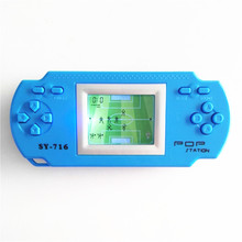 New arrival SY-716 children intelligence footable game player with Light Display handheld Game by 2*AAA battery free shipping