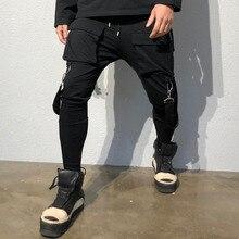 Hip Hop Multi-pocket Brand Men Pants Cotton 2019 Track Pants