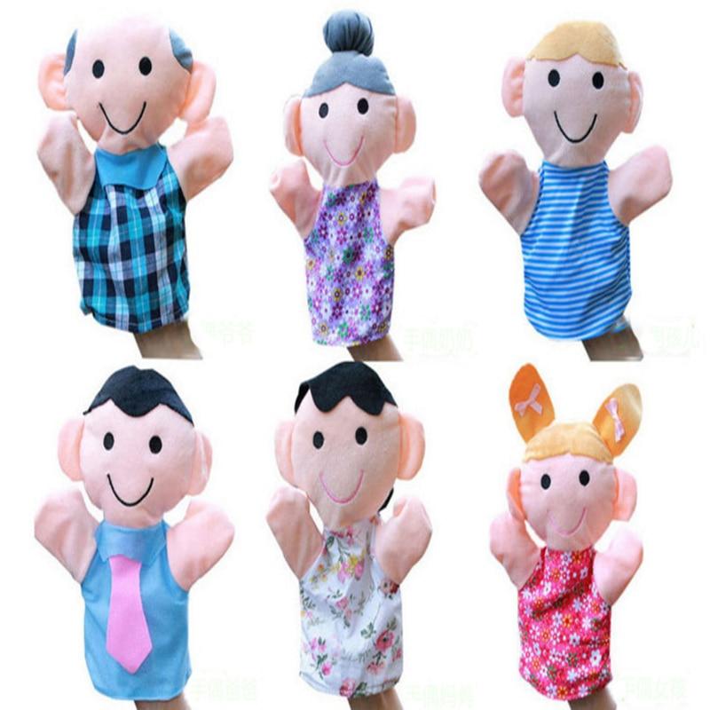 6Pcs jucării de pluș de mână Puppet o familie de copii Copii - Păpuși și jucării umplute