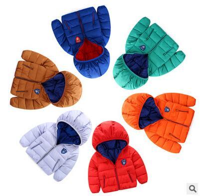 Çocuk kış yeni erkek bebek kız küçük çocuk giyim pamuk-yastıklı giysi aşağı ceket-kısa paragraf ceket, ceket