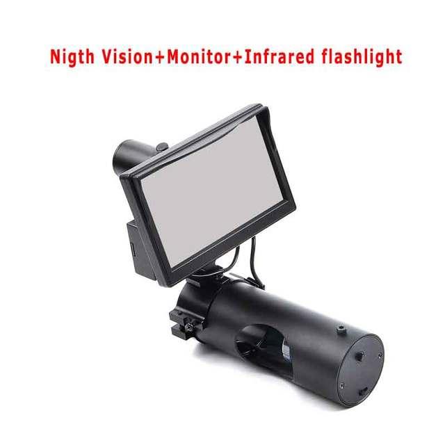 Lunette de Vision nocturne chasse jour et nuit tactique numérique infrarouge vue nocturne avec LCD et lampe de poche