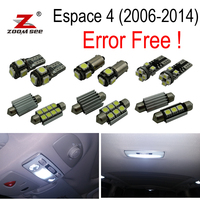 23pc x For 2006 2014 Renault Espace 4 IV MK4 Error Free Car LED bulbs Interior Reading dome map trunk Light Kit