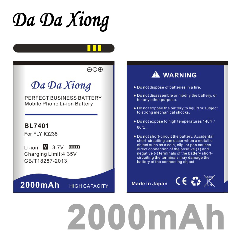 Da Da Xiong 2000mAh <font><b>BL7401</b></font> Li-ion Phone Battery for <font><b>FLY</b></font> IQ238 image
