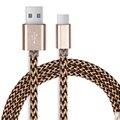 1 M Cabo USB do Tipo C, Nylon Trançado USB C 3.1-Tipo C Sync Rápido & cabo do carregador para xiaomi xiaomi mi mix xiaomi meizu pro 6 mi5