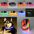 USPS Envio Gratuito de 8 Cores S M L Tamanho Brilho LED Dog Cat Pet Flashing Light Up Collar Noite Segurança Coleiras de Nylon Suprimentos Dropship