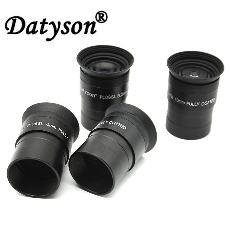 DATYSON 1.25 Plossl Oculaire Entièrement Enduit Astronomique Télescope Lentille Oculaire Facultatif Focale 4mm 6.3 m 10mm 12.5mm