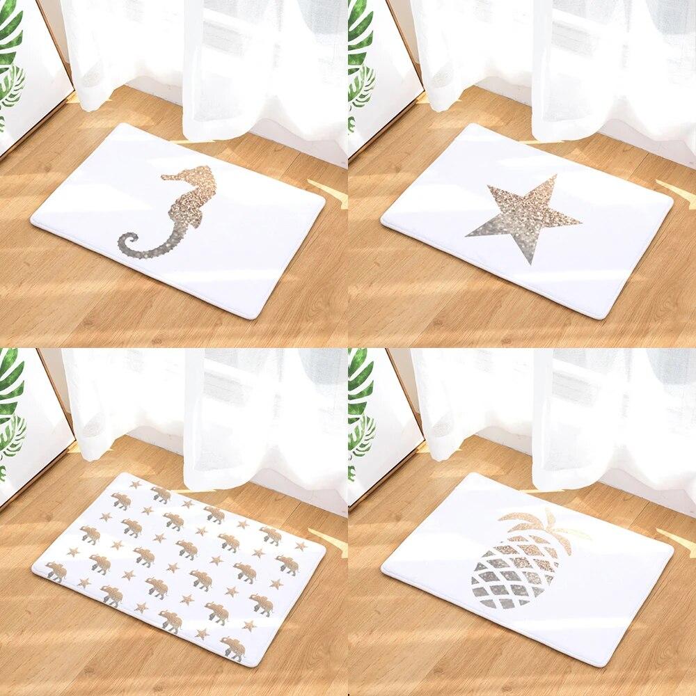 Heart Star Seahorse Pineapple Doormat Bath Kitchen Carpet Decorative Anti Slip Mats Room Car Floor Bar Rugs Door Home Decor Gift Mat Aliexpress