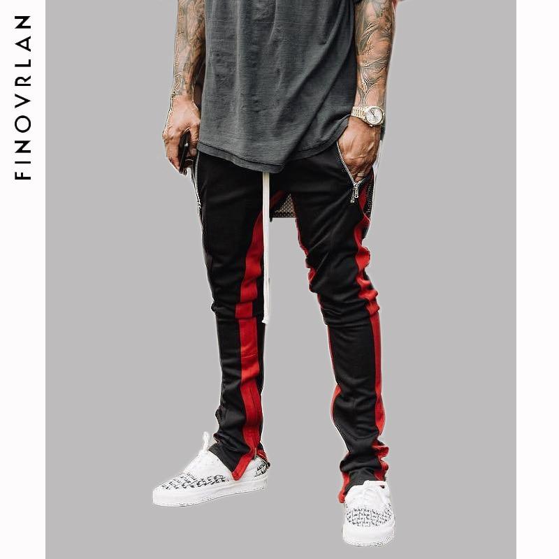Block Patchwork Stripe Harem Pants Mens 2018 Autumn Casual Zipper Pockets Joggers Sweatpants Male Cotton Ankle Zipper Trousers