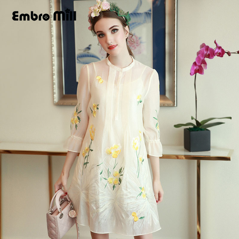 High end women vintage royal royal flower embroidery for High end fashion websites