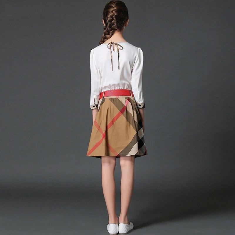 3374a48386952 Adolescente filles robes d été 13 ans britannique style robes de partie  enfants costumes pour fille vêtements 8Y mode vêtements pour les  adolescents dans ...