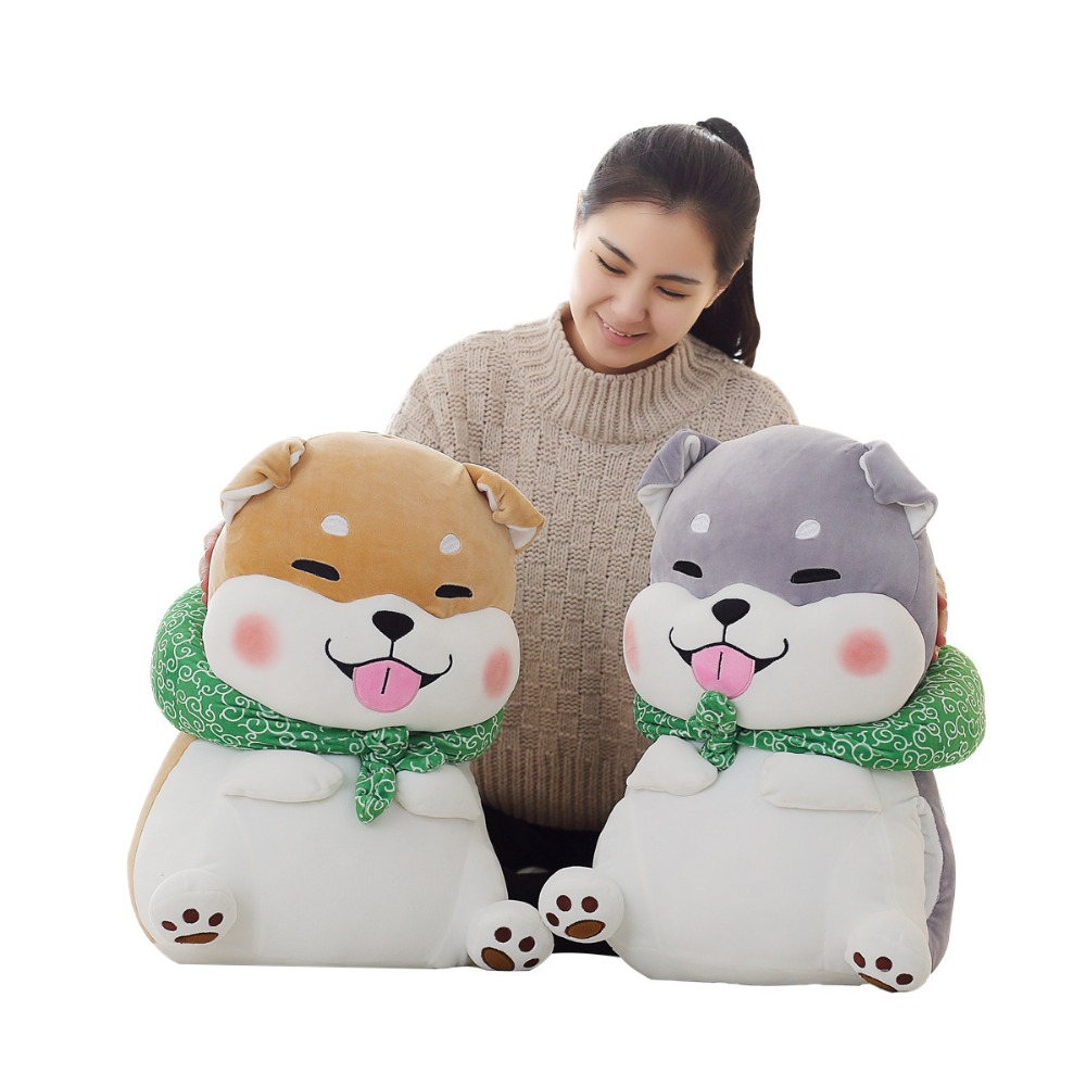 1pc 40cm Cute Fat Shiba Inu Dog Plush Toy Stuffed Soft Dog Toy Doll for Children Kids Good Valentine Gift Brinquedos for Girls nooer new arrival husky shiba inu stuffed plush toy cute soft husky shiba inu stuffed pillow sofa cushion kids birthday gift