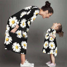 купить Mommy and me family matching mother daughter dresses clothes striped mom dress kids child outfits mum big sister baby girl E0172