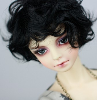 1/3 1/4 BJD Wigs short  nature curlyhair doll DIY High-Temperature Wire for bjd dollfie(mohair-like) new 1 4 8 9 inch bjd wig short hair doll diy high temperature wire for 1 4 msd bjd sd dollfie