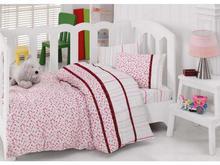 Комплект постельного белья детский cottonbox, розовый, с вышивкой