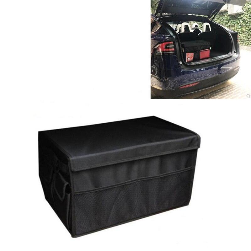 Coffre de voiture boîte gros stockage Sac Noir Pour Tesla Model S Modèle X et Modèle 3 Auto 3D Intérieur Accessoires