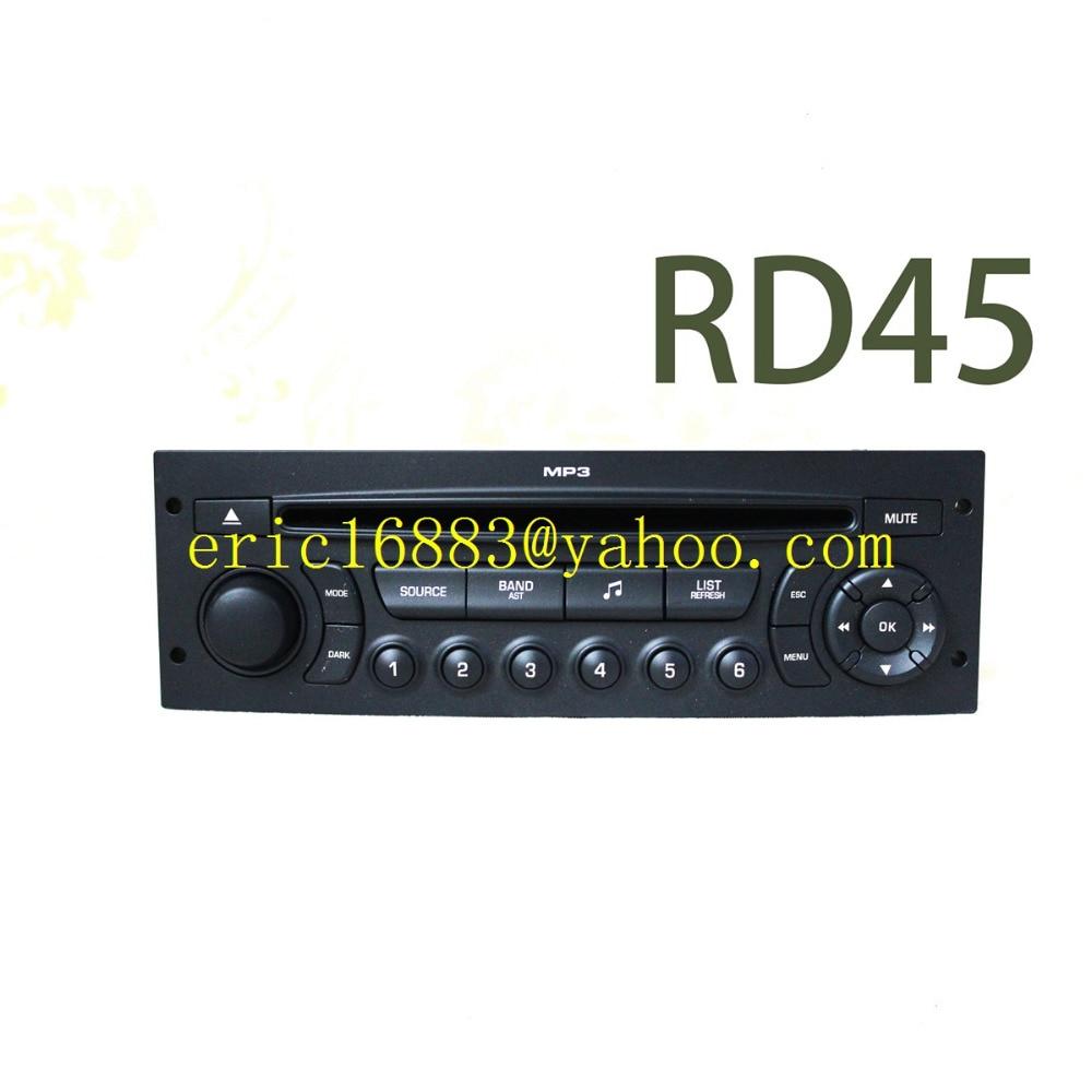 genuine rd45 car radio with cd usb bluetooth for peugeot 207 206 307 308 807 citroen c2 c3 c4 c5. Black Bedroom Furniture Sets. Home Design Ideas