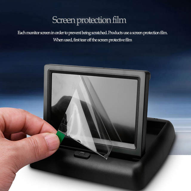 US $21 99   Car electronics Car Rear View System Foldable TFT Color LCD Car  Reverse Rearview 4 3 inch 16:9 Car Security Monitor For DVD VCR-in Car
