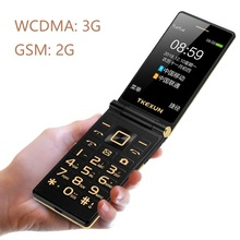Tkexun Unlock Flip 3G WCDMA Touch Display Senior Mobile Phone