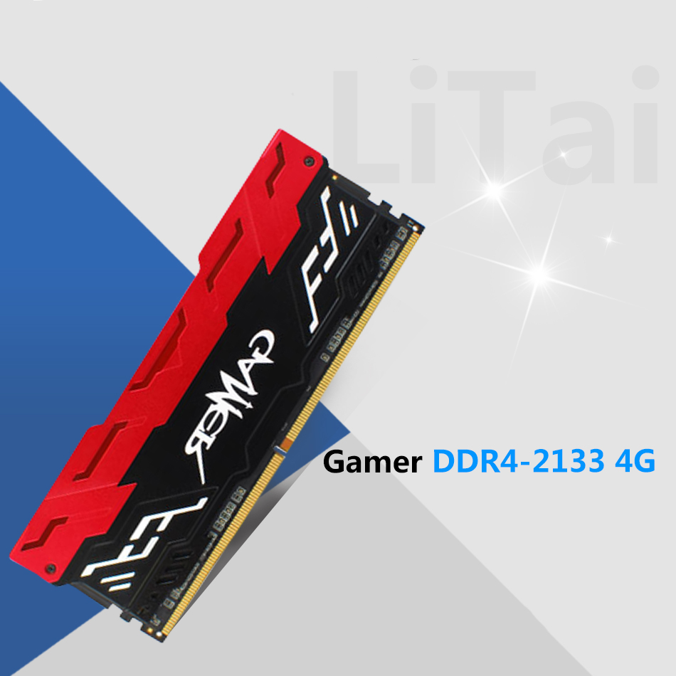 Gamer DDR4-2133 4G desktop lamp overclocking memory alloy single red vest