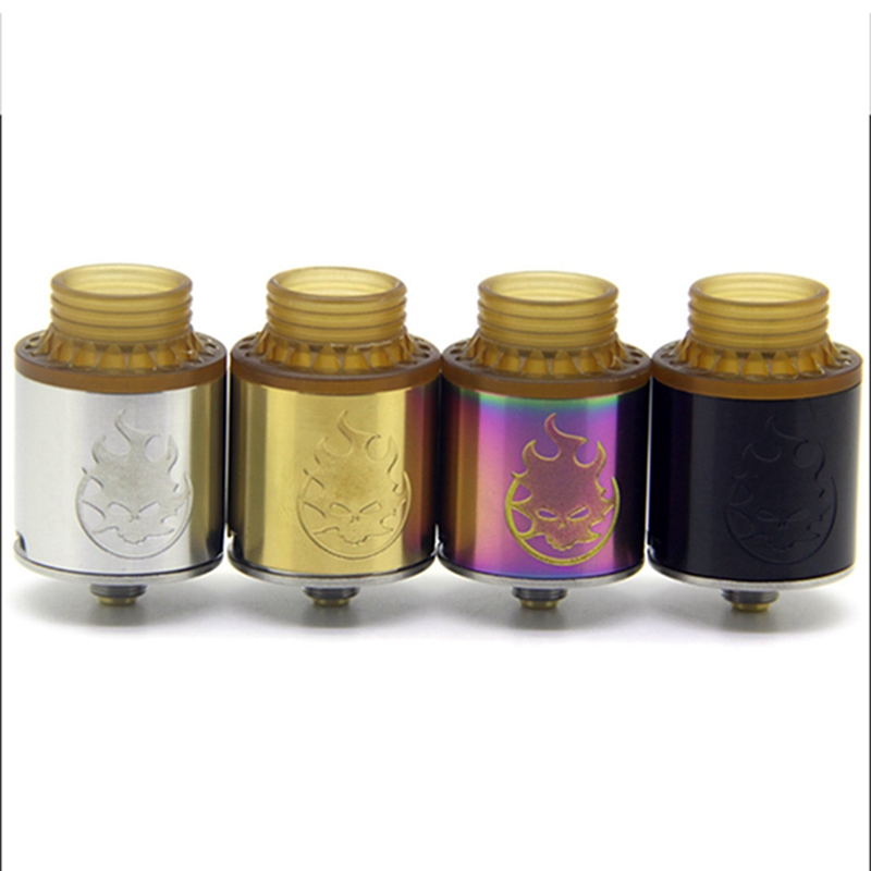 New Phobia 24 Tank Electronic Cigarette RDA Atomizer Support Single And Dual Coil Bottom Side Airflow